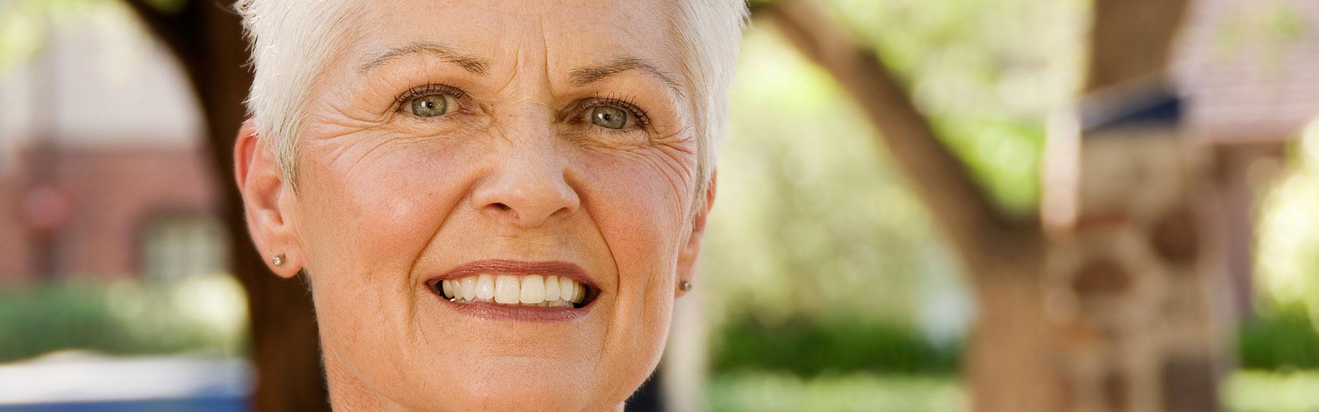 senior woman with perfect smile