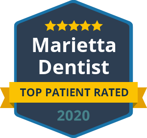 Badge Top Patient Rated Marietta Dentist 2020